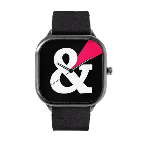 Black Ampersand Watch