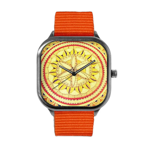 Yellow Fine Mandala Watch
