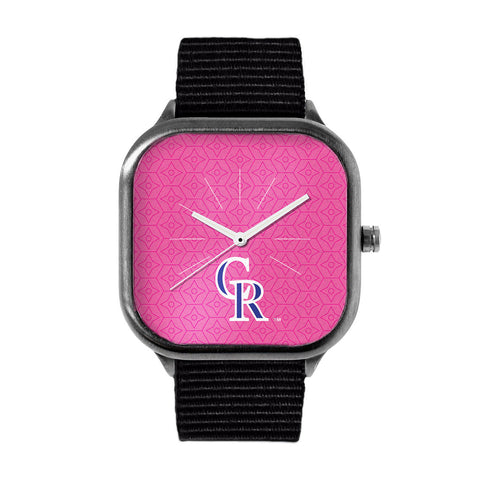 Pink Colorado Rockies Watch