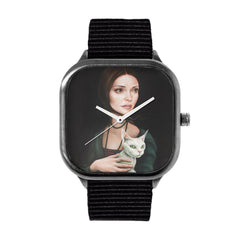 Lady with Devon Rex Watch