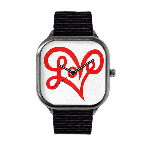 LoveHeart Typography Watch