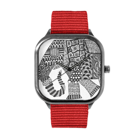 Patterned Elephant Watch