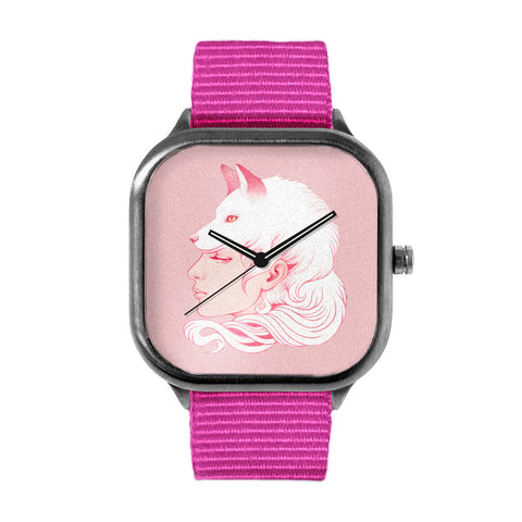 Sze Jones Pink Wolf Girl Watch