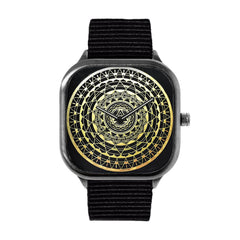 Gold Mandala Alloy watch