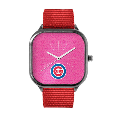 Pink Chicago Cubs Watch