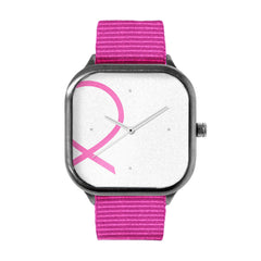 Breast Cancer Awareness Ribbon Watch