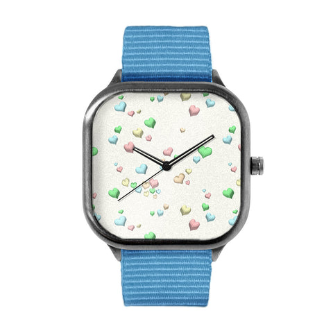 Pastel Candy hearts Watch