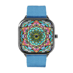 Stained Glass Mandala Alloy watch