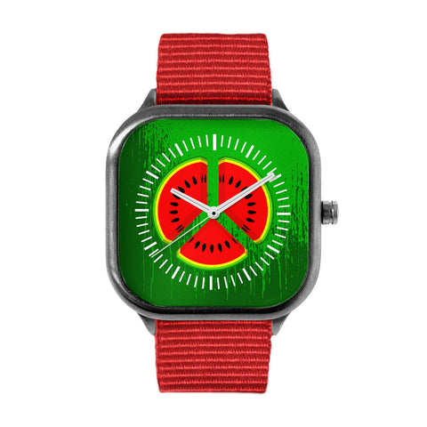 Watermelon Peace Sign Watch