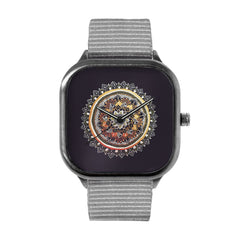 Gold and Silver Mandala Watch