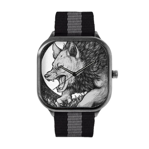 Wolf by Flying Viper Illustration Watch