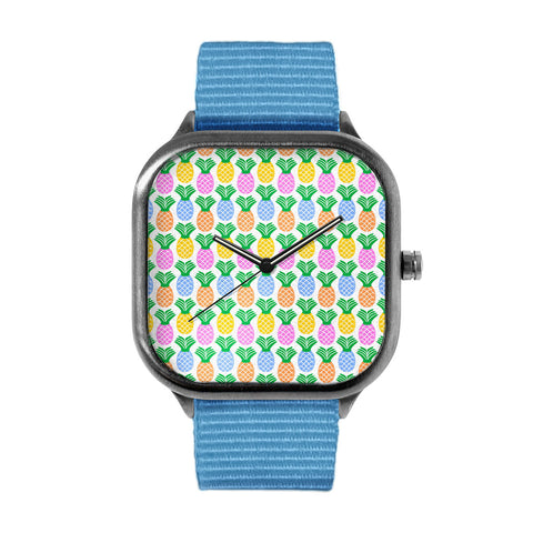 Retro Pineapple Pattern Watch