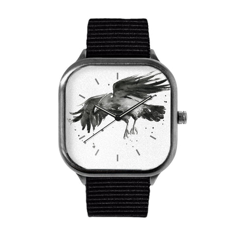 Raven Watercolor Watch