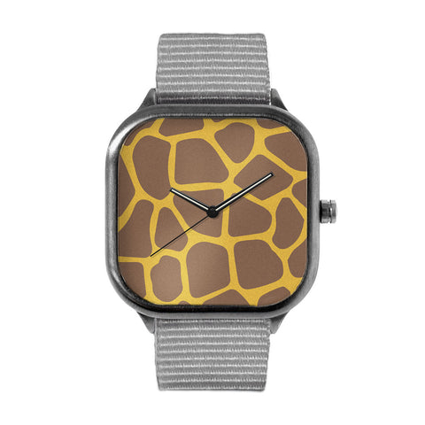 Giraffe Print Alloy watch