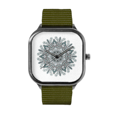 Green Flower Mandala Watch