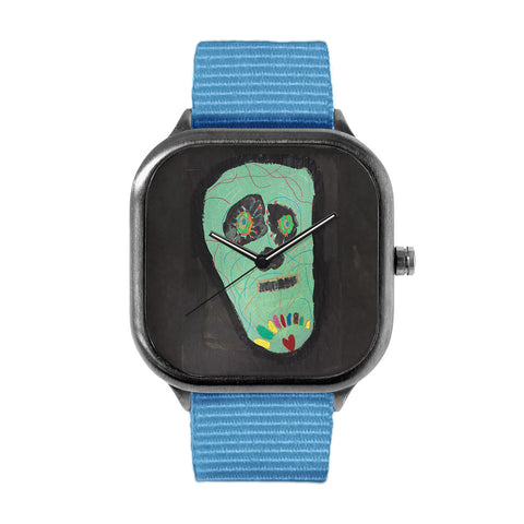 Green Skull by Sara O Sullivan Watch