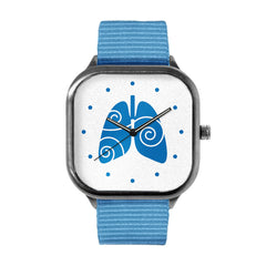 Free to Breathe Lungs Dark Blue Watch