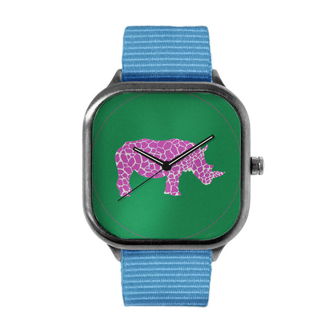 Purple Spotted Rhino Watch