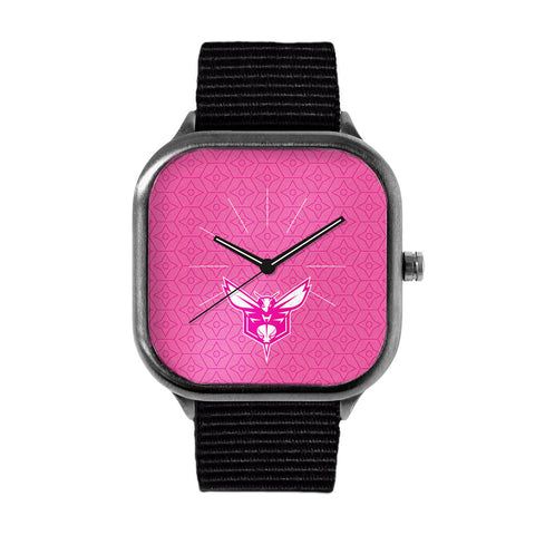 Pink Charlotte Hornets Watch
