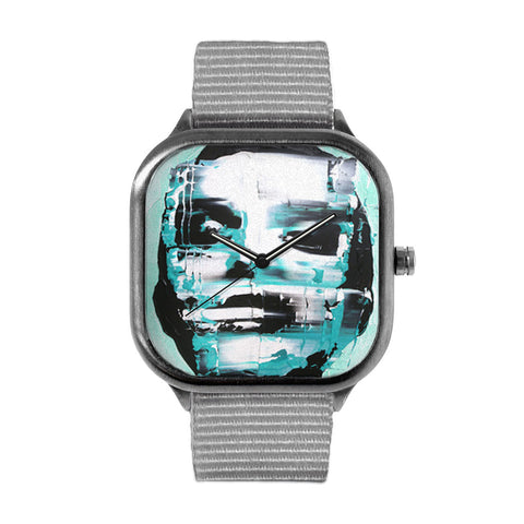 Blue Disfigured Watch