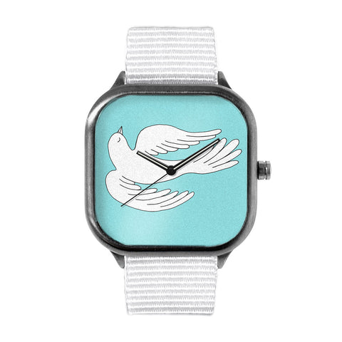 Sky Blue Swooping Bird Watch