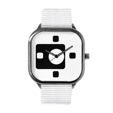 Black and White Chicklets Watch