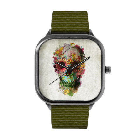 Flower Skull 2 Watch