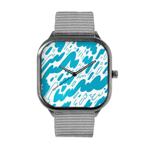Blue Pattern Watch