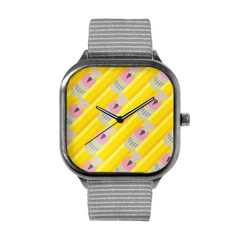 Brandon Ortwein Pencil Pattern Watch