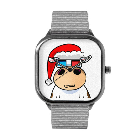 Cow Badge Xmas Watch