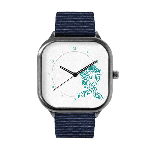 Teal Ribbon of hope Watch