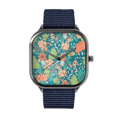 Botanical Pattern 12 Watch