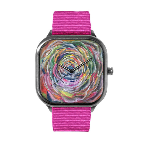 Rainbow Flower Alloy watch