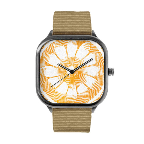 Etched Flower Passion Fruit Watch
