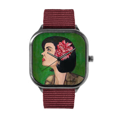 Girl With A Flower Watch