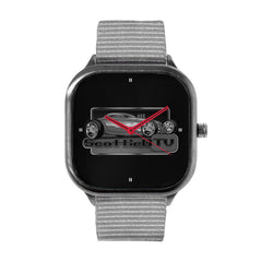 Black and White Logo Watch