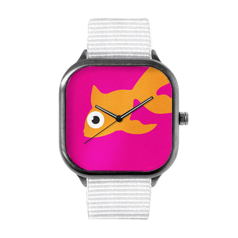 Pink Goldfish Watch