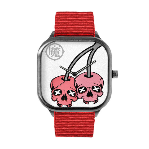 Cherry Skull Watch
