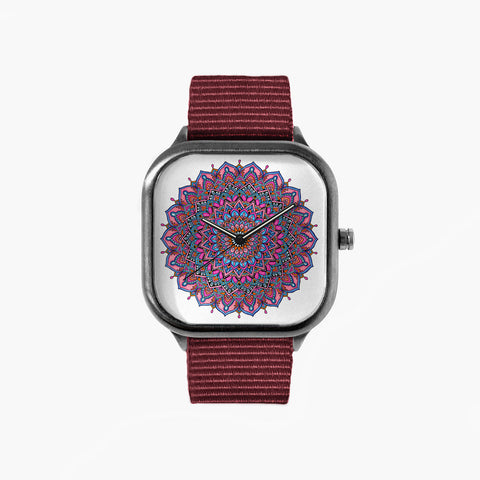 Isol Lilja Serenity Watch with a Crimson Strap