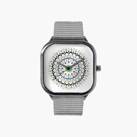 Isol Lilja Spring Watch with a Grey Strap