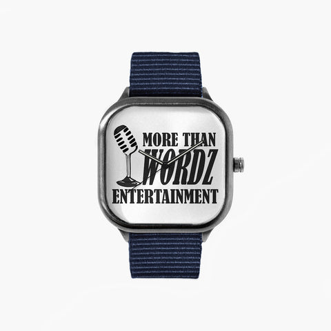 More Than Wordz Logo Watch with a Navy Strap