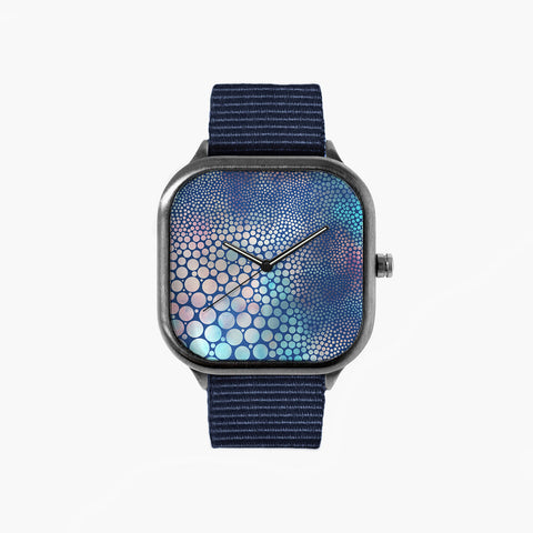Dream Circles Watch with a Navy Strap
