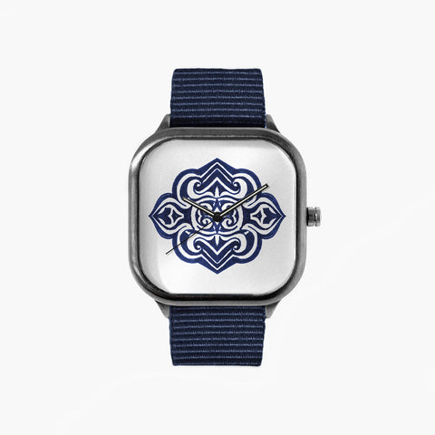 All in Good Time Blue Waves Watch with a Navy Strap
