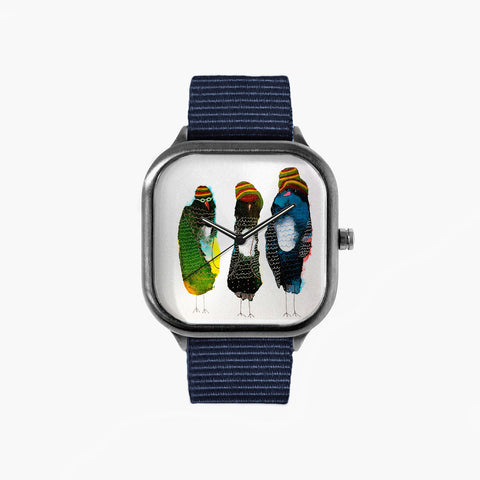Jenn Ashton One Love Watch with a Navy Strap