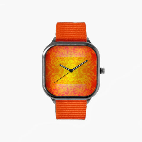 All in Good Time Hot Mess Watch with an Orange Strap