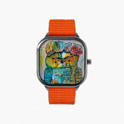 Jenn Ashton Frida Watch with an Orange Strap