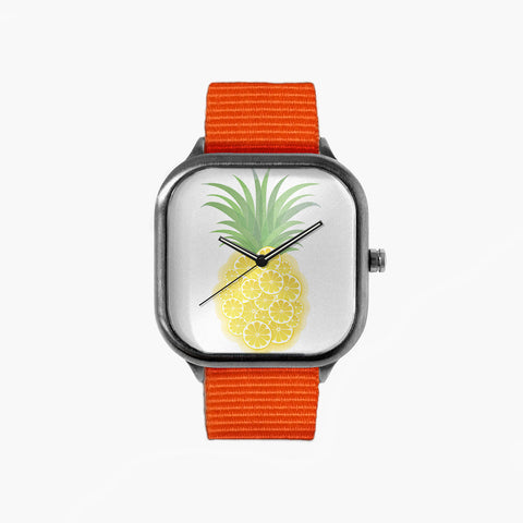 Orange Pineapple Watch with an Orange Strap