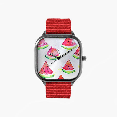 Watermelon Craving Watch with an Red Strap