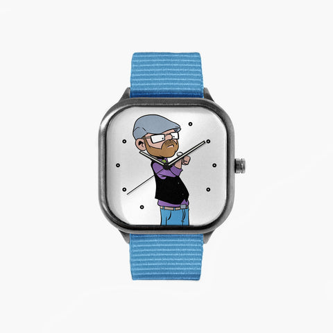 Watching Time Watch with a Sky Blue Strap