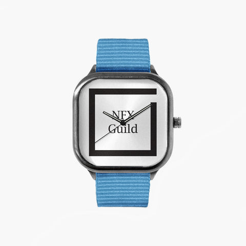 NFX Square Watch with a Sky Blue Strap
